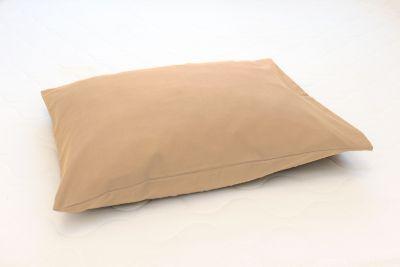 Ühevärviline beež satäänist padjapüür 50x70