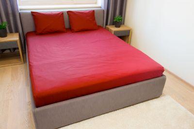 Puuvilla Aluslina Punane 240x220 cm