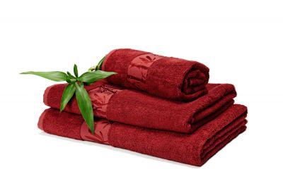 DOSSA Bambusrätik 70x140 bordoo punane